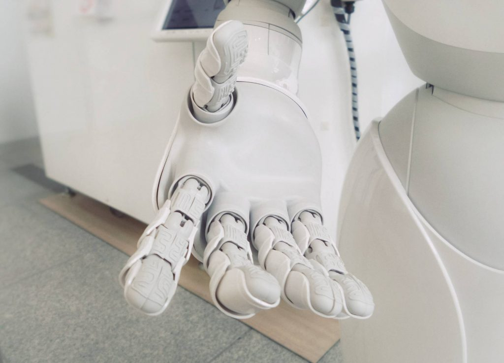robot with open hand
